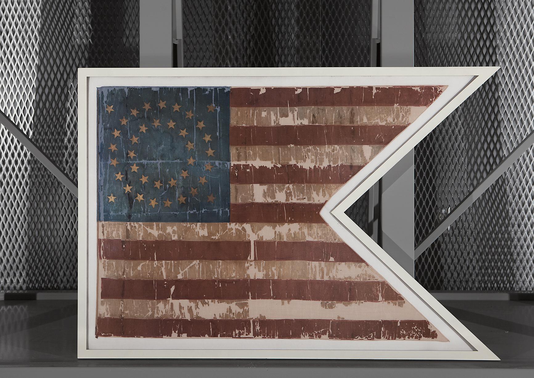 Custom Shaped Aluminum Frame for American Flag