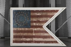 Custom Shaped Aluminum Frame for American Flag