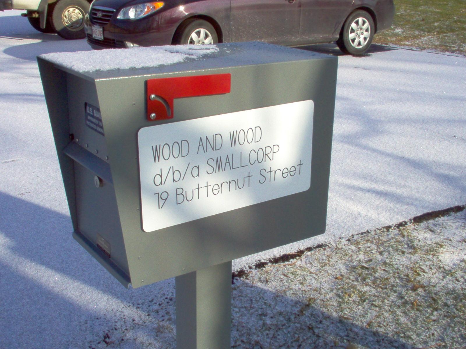 SmallCorp Mailbox