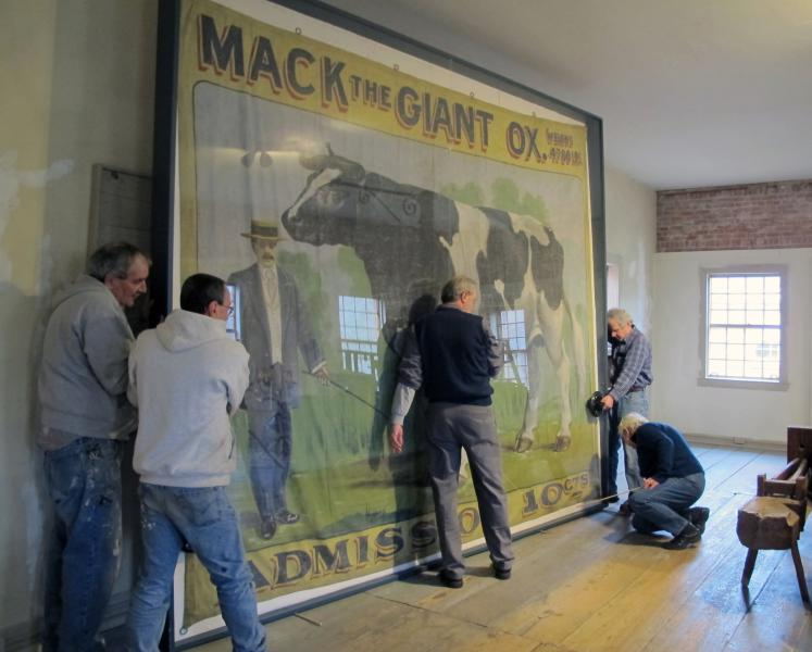 Installing the popular Mack the Giant Ox banner Molly and Van are on the right)