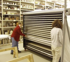 Archival Storage carts for textiles made by SmallCorp