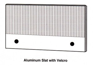textile slat and cleat