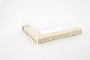 Side of clear frame with strainer