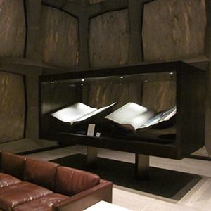 Adjustable book cradles for Audubon folios, Yale University Beinecke Rare Book Library