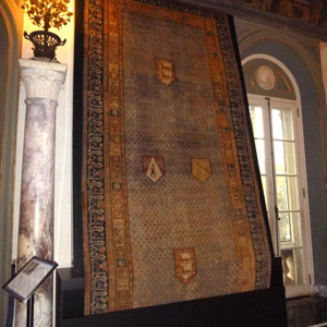 Rug display panel and storage cabinet, Vizcaya Museum and Gardens, Miami