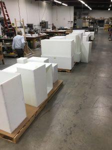 Making large, heavy archival riser blocks for case interiors