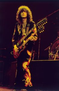 Jimmy Page with his Gibson EDS-1275