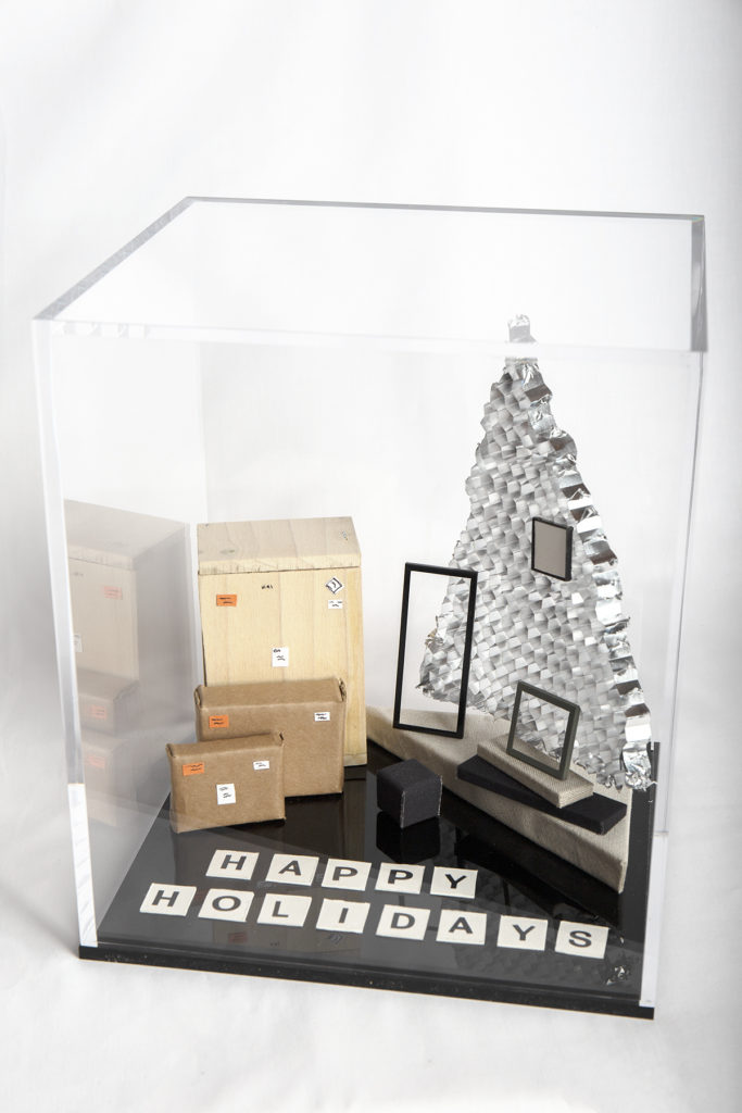 Classic Tabletop Case with SmallCorp Happy Holiday scene