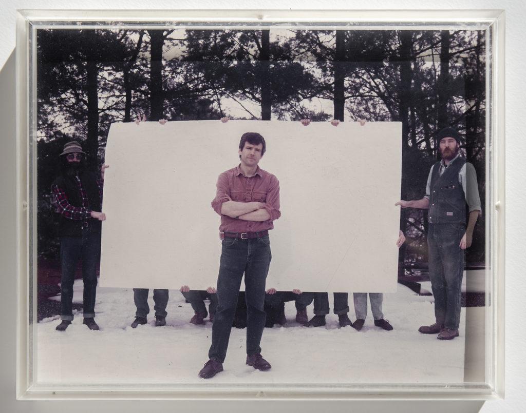 "Van Wood in front of a 60"" x 104"" sheet of matboard"
