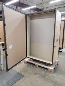 Mobile Exhibition Cases with Door Open